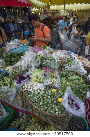 BANGKOK, THAILAND - DECEMBER 25, 2014: Street Photography of Street market in China town.