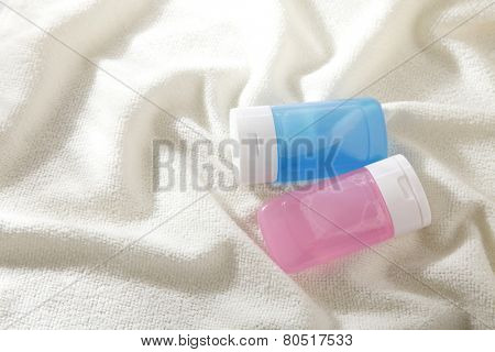 toner or cleanser with the towel