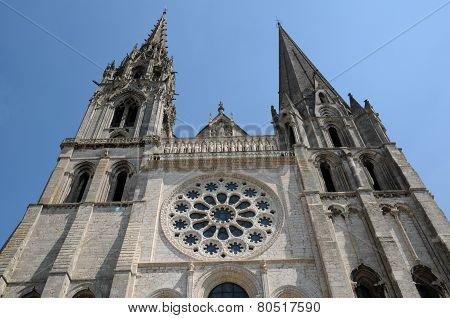 France, The Cathedral Of Chartres In Eure Et Loir