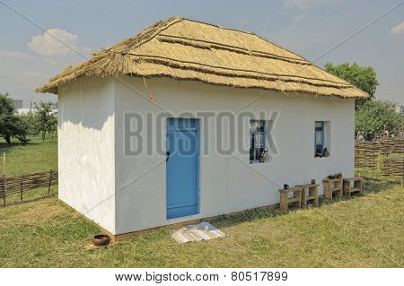 Wattle and daub hut