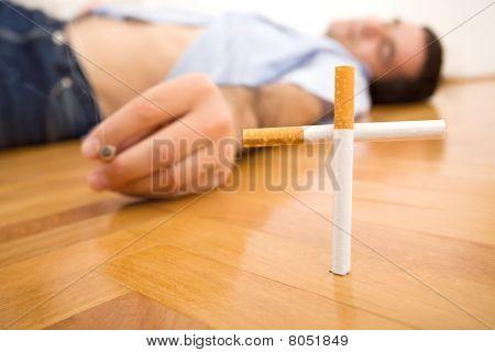 Man Lying On The Floor