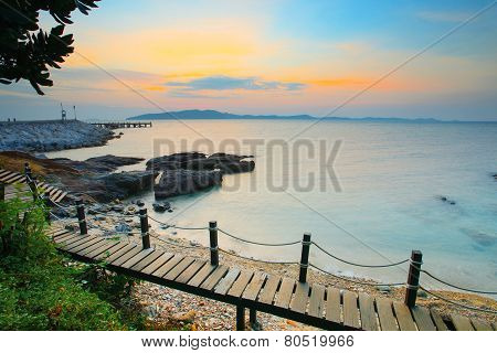 Beautiful Sea Scape In Morning Light Of Khao Leam Ya Marine National Park In Rayong Eastern Of Thail