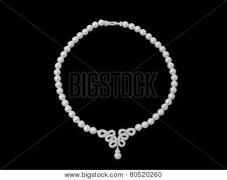 Pearl Jewelry Necklace Isolated