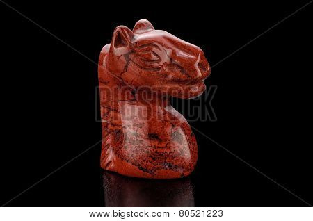 Red Jasper Horse Head Figurine