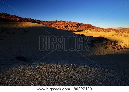 Lunar landscape in Teide National Park, Tenerife, Canary Islands, Spain