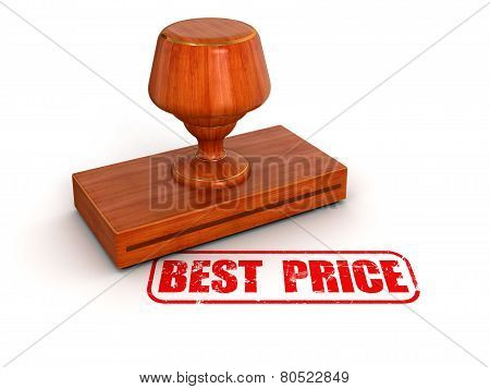 Rubber Stamp Best Price (clipping path included)