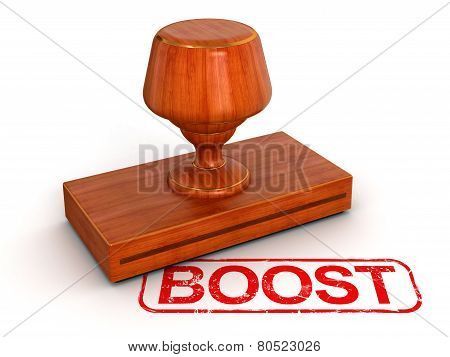 Rubber Stamp boost  (clipping path included)