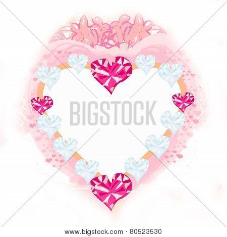 Valentine Pink Heart Frame