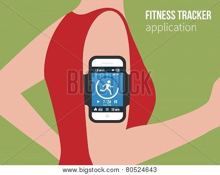 Sports or fitness tracking app for running people