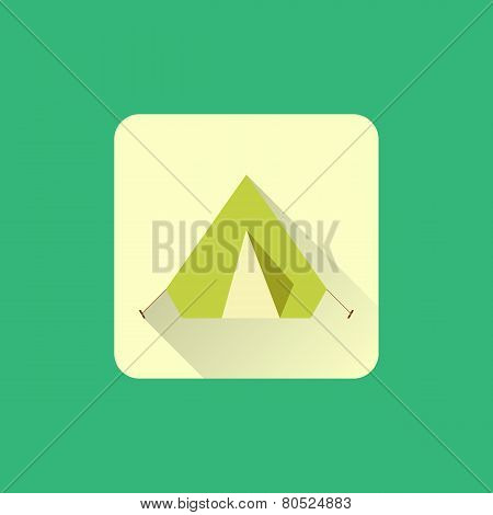 Tourist tent sign icon. Camping logo.