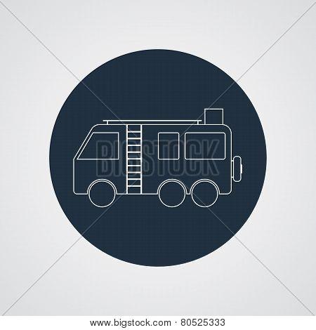 Motorhome Camper van vector icon. Flat design