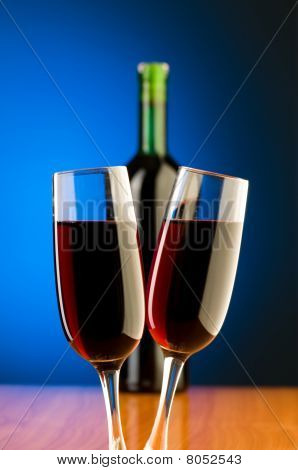 Wine Glasses Against Background