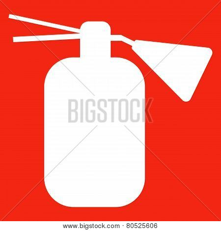 Fire extinguisher isolated icon.