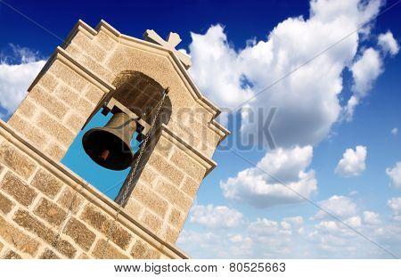 Belfry at blue sky