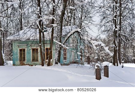 Park Pavilion In Winter