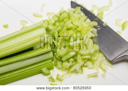 Celery Getting Chopped