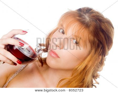 Woman Holding Glass