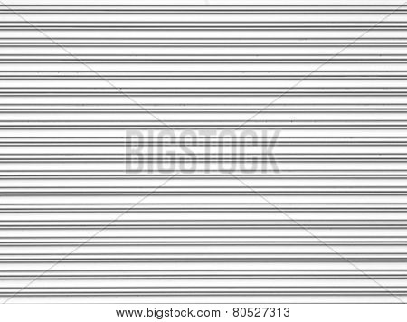 White corrugated metal texture and background surface