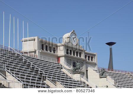 Olympic stadium of Barcelona in Montjuic