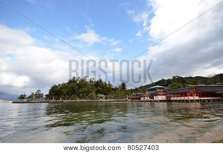 A View Of Itsukushima Shrine