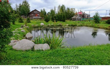 Small Pond, Surrounded By Stones