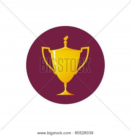 Icon Cup Of Winner, Vector Illustration