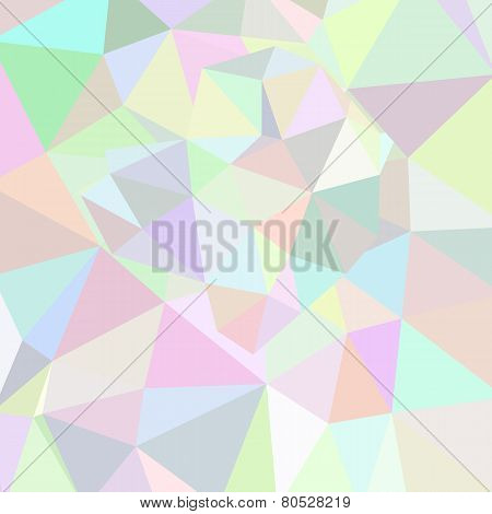 Abstract Triangle Background. Pink Palette