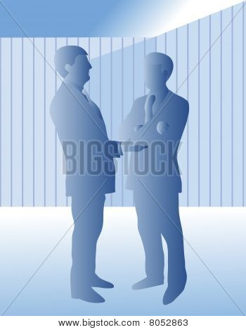 Two business men talking