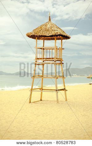 Lifeguard Tower On The Beach