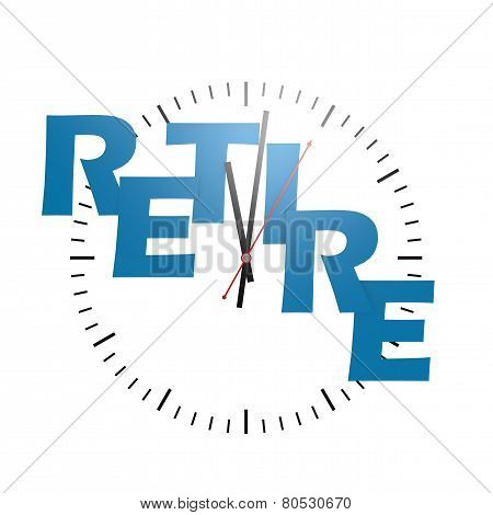 Retire Word With Clock