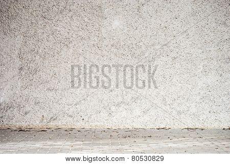 stucco white wall