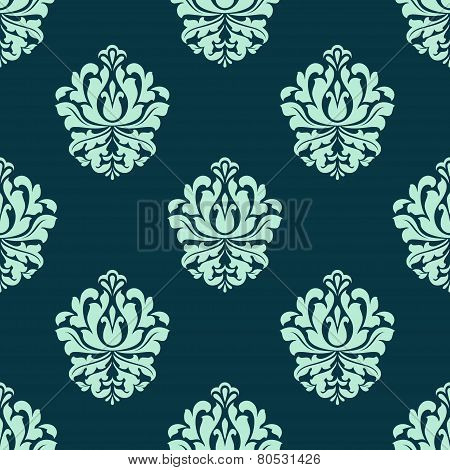 Seamless pattern with baroque floral tracery
