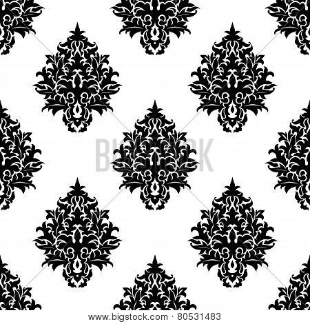 Abstract seamless flourish pattern in damask style