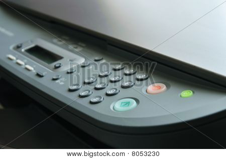 Close Up Of Printer