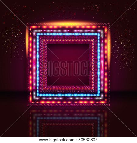 Elegant vinous background with shiny frame and place for Your te
