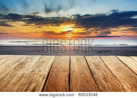 Beach With Sunrise