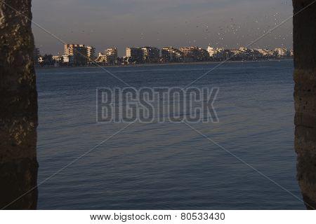Playa norte de Peñíscola  15 de enero de 2015