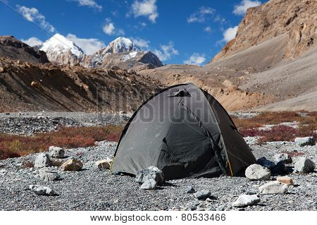 Tent In Himalayan Mountains