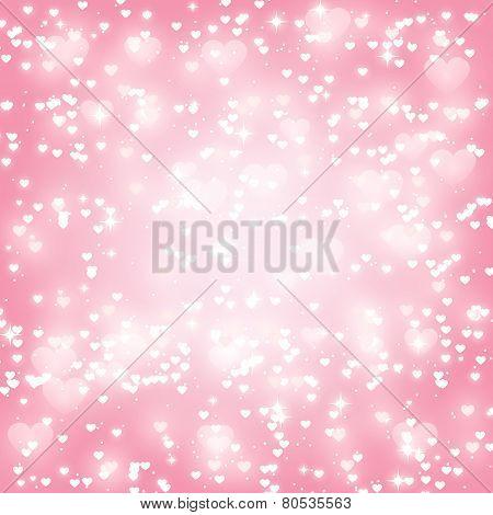 Shiny hearts background