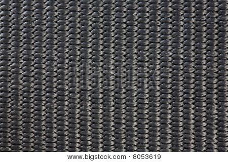 Black Nylon Woven Material Texture