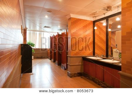 Interior Of A Luxury Public Restroom