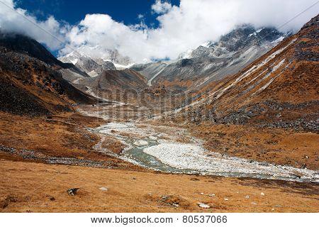 Langtang, Nepal - Scenery Near Kangja (ganja) La Pass