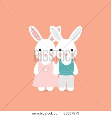 Cute rabbit love card