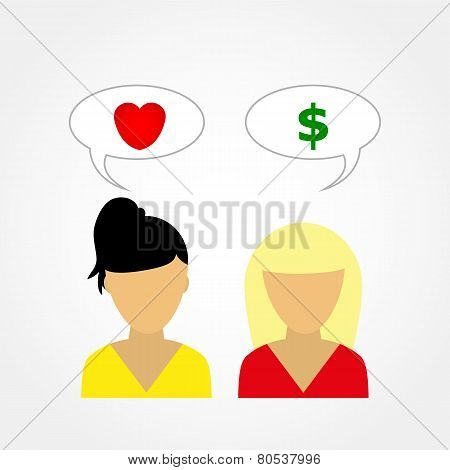 Two Girls Talking To Each Other