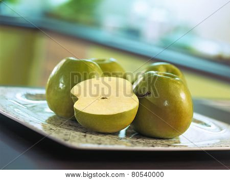 Apples On Tabletop