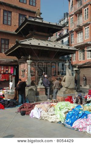 Old Durbar Square Market  In Kathmandu, Nepal