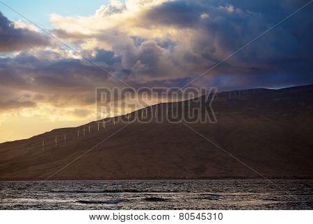 Shoreline Of Kaheawa Wind Farm