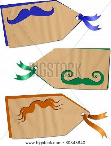 Fun Moustache Tags