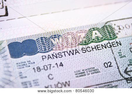 Passport with European Union Shengen Visa