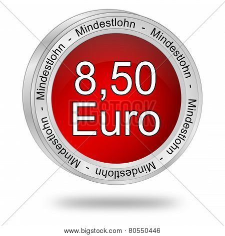 8,50 Euro minimum wage - in german